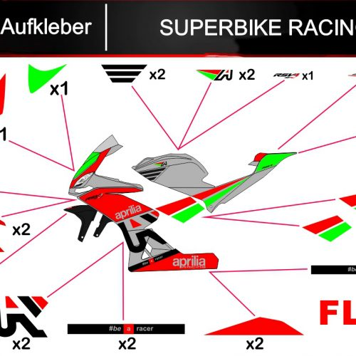 Sticker/ Aufkleber SUPERBIKE RACING